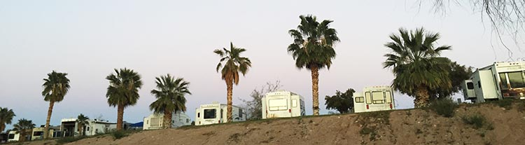 Another view of the rigs near the Colorado River