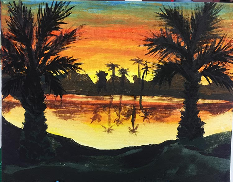 Here is the final product of Joe's Paint & Sip creation