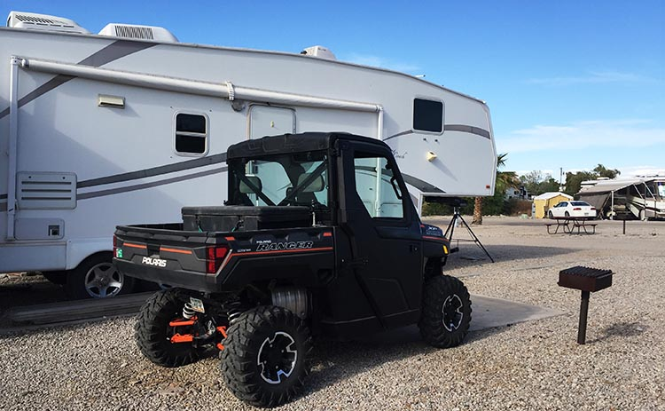 These are the kind of ATVs favored by campers at the Arizona Oasis RV Resort