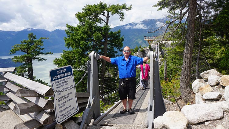 This is me on the suspension bridge at the summit of the Sea to Sky Gondola