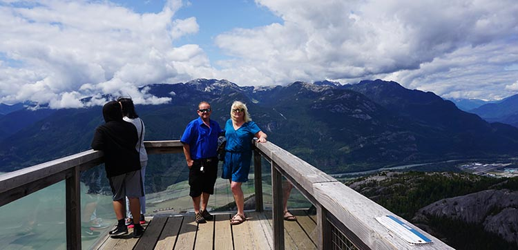 Maggie and I at the view site at the summit of the Sea to Sky Gondola