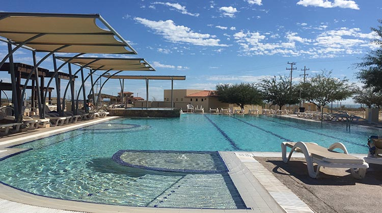 This is the Olympic sized main pool at El Dorado Ranch
