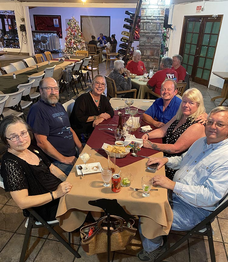 We celebrated my birthday at La Vaquita with good friends from the ranch