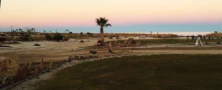 Sunset over the Sea of Cortez at the golf course on El Dorado Ranch