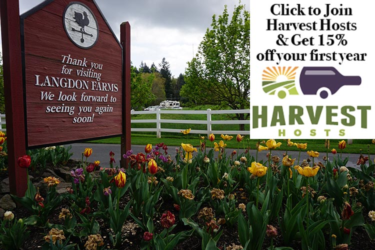 How to Get Free RV Camping with Harvest Hosts. Langdon Farms Golf Club is a beautiful place to stay for a night or two - for free!
