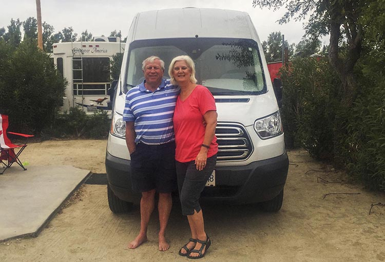 Video of Camper Van Conversion: How Marty Converted a Ford Transit into an RV Camper Van. The proud owners of this beautiful camper van, Marty and Gail