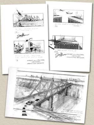 ESCAPE FROM NEW YORK Signed Storyboards