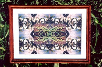 Piece composed of hand-tessellated 35mm photographs.