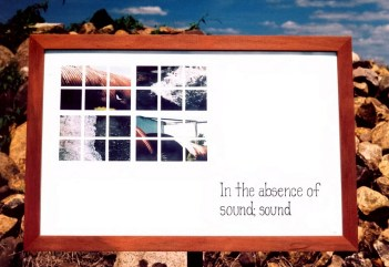 """""""In the absence of sound; sound."""""""