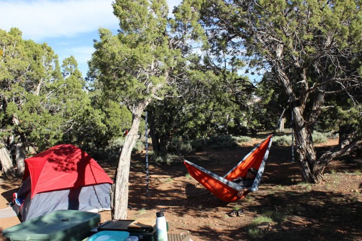 We love our new ENO (Eagles Nest Outfitters) hammock that we picked up at the REI store in Flagstaff