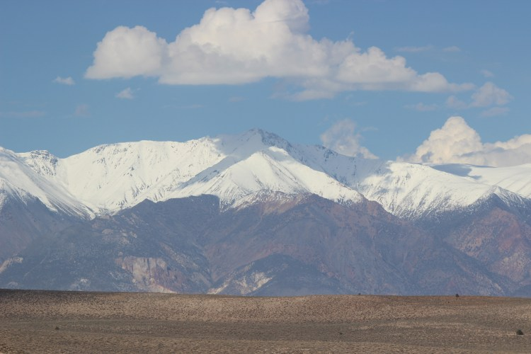 When we exited the park we were greeted by California's Sierra Nevada mountain range