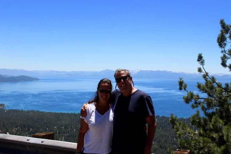 Beautiful view of Lake Tahoe from the Nevada side, coming from Reno.