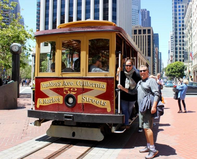 """San Francisco, CA. The Cable Car. Joe kept singing """"Rice A Roni the San Francisco Treat"""