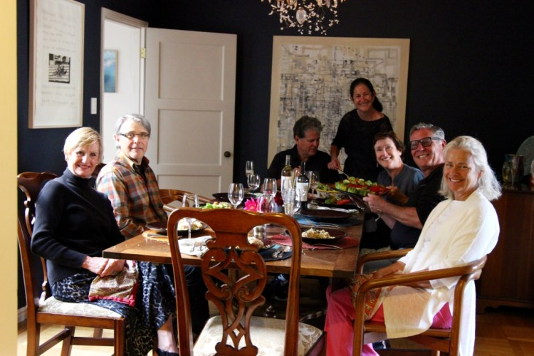 Wonderful dinner with new friends. From left to right: Paula, Kenneth, Mike, Libby, Alexandra, Joe and Rozanne.