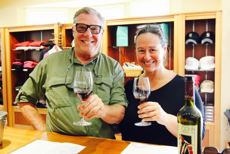 Sonoma Valley, Genn Ellen, CA. Our first wine tasting at the B.R. Cohn Winery.