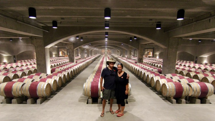 Robert Mondavi Winery. We took a 75 minute tour that included a walk through of the vineyards and cellars and a wine tasting.