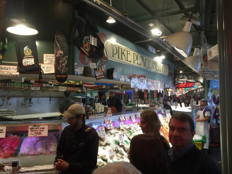 The fish market is a big attraction for tourists and locals.