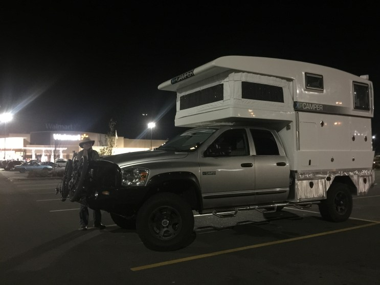 Our first time camping in a Walmart parking lot in Port Angeles WA before taking the ferry to Victoria on Vancouver Island, BC