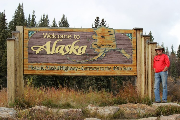 After driving about 2000 miles (3218 Km) from Vancouver BC we reach the Alaska Border at Port Alcan