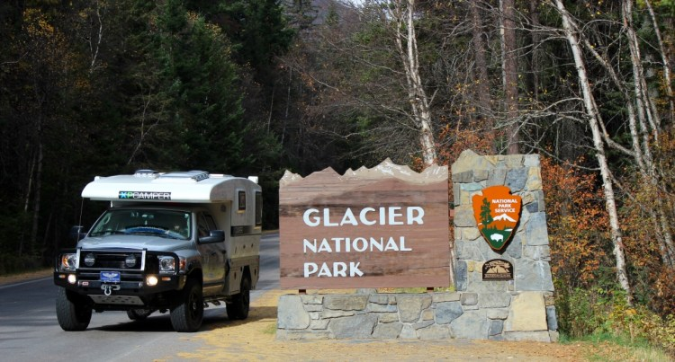 We entered the Glacier National Park through Montana but it is located on the US-Canada border.