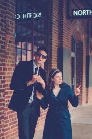Germain Choffart as Joe and Teresa Moore as Nancy pose at the Tobacco District in Durham, NC.