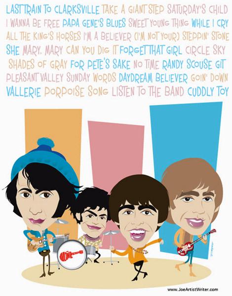 Monkees Illustration by Joe Oesterle