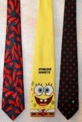 Chili, SpongeBob SquareTie & Dodo Bird Ties