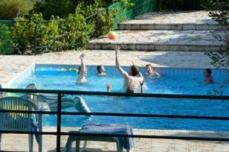 Trip - Fun in the pool, too.