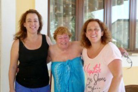 Eirini, Di and Dora at Villa Andonis