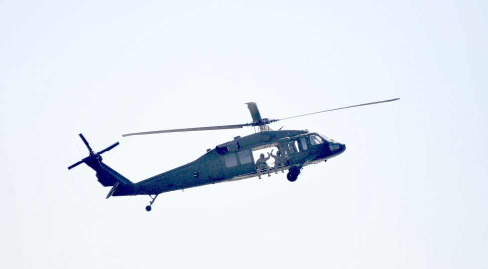 A wave from the Black Dagger Blackhawk.