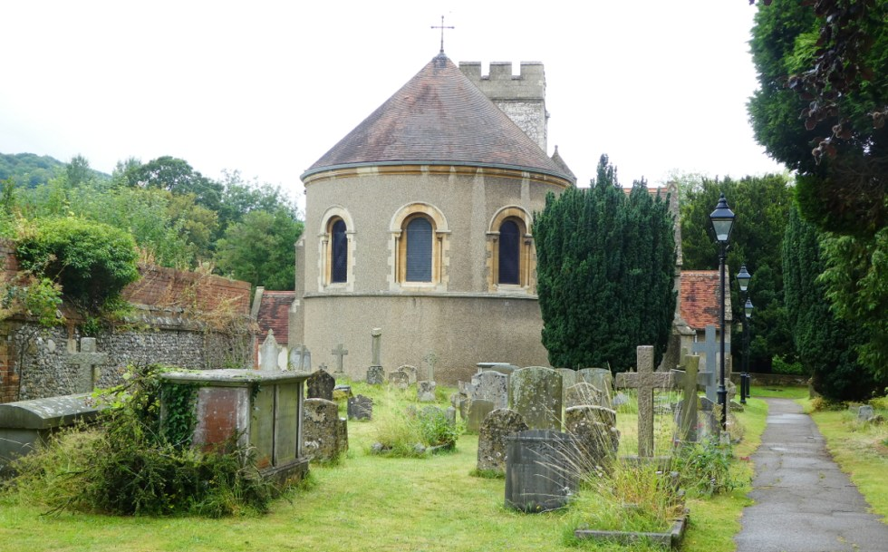 St. Thomas of Canterbury - Exterior from church graveyard.