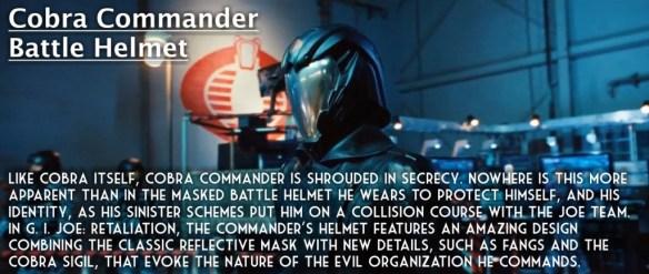 G.I. Joe Retaliation Cobra Commmander battle helmet