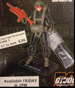 G.I. Joe Convention Night Force Crazy Legs