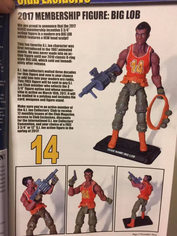 G.I. Joe Collector's Club Big Lob