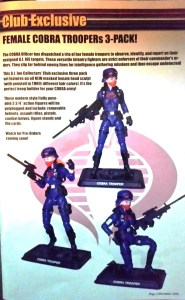 G.I. Joe Collector's Club female Cobra Troopers