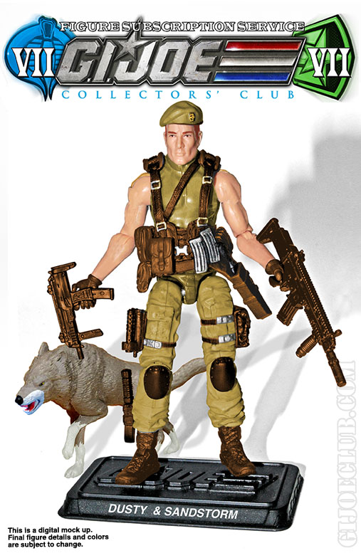 G.I. Joe Collector's Club FSS 7 Dusty & Sandstorm