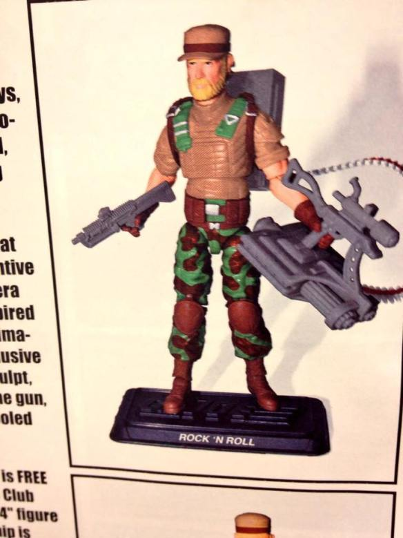 2017 G.I. Joe Collector's Club Membership Incentive Rock & Roll figure