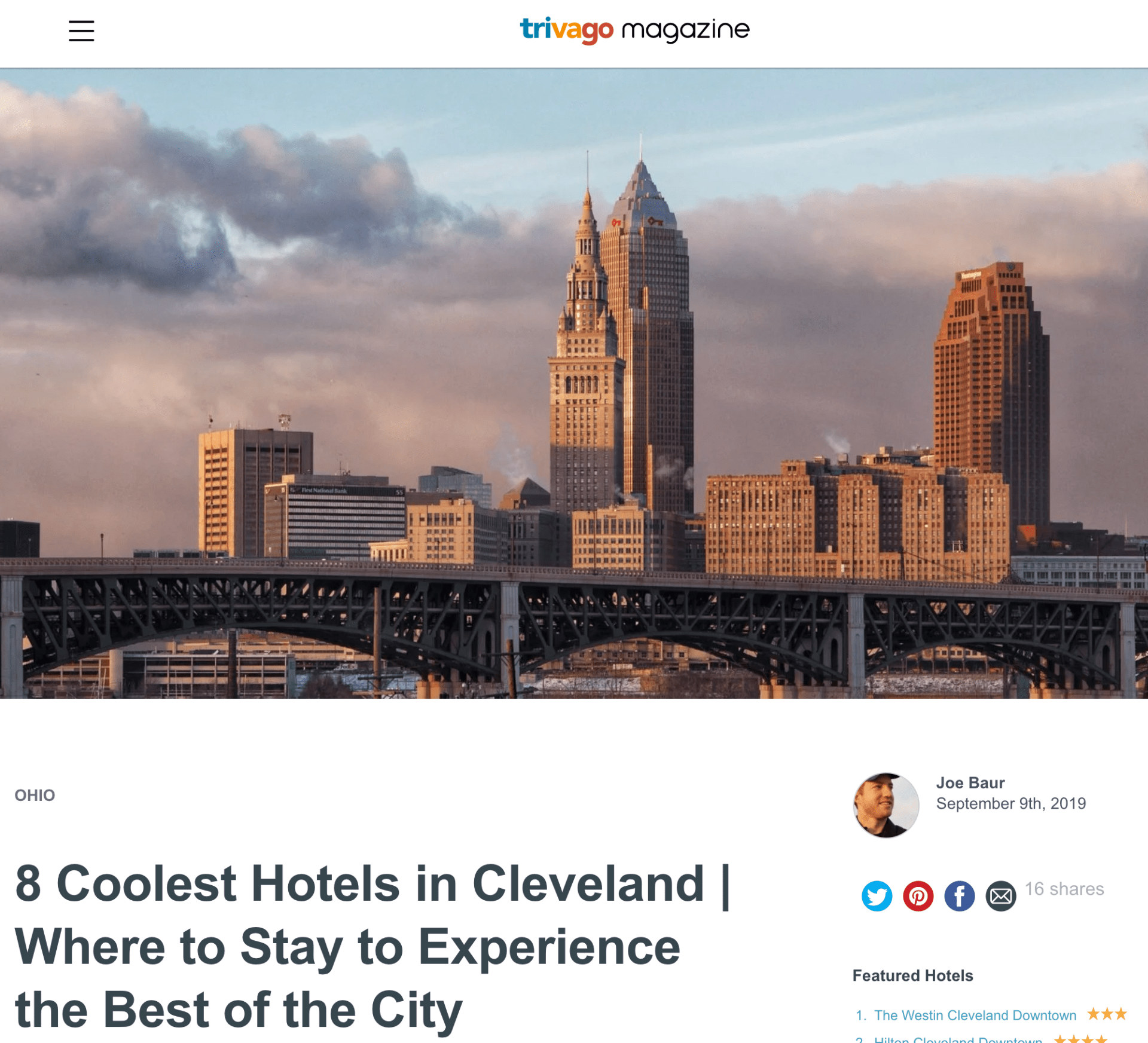 8 Coolest Hotels in Cleveland   Where to Stay to Experience the Best of the City - trivago Magazine