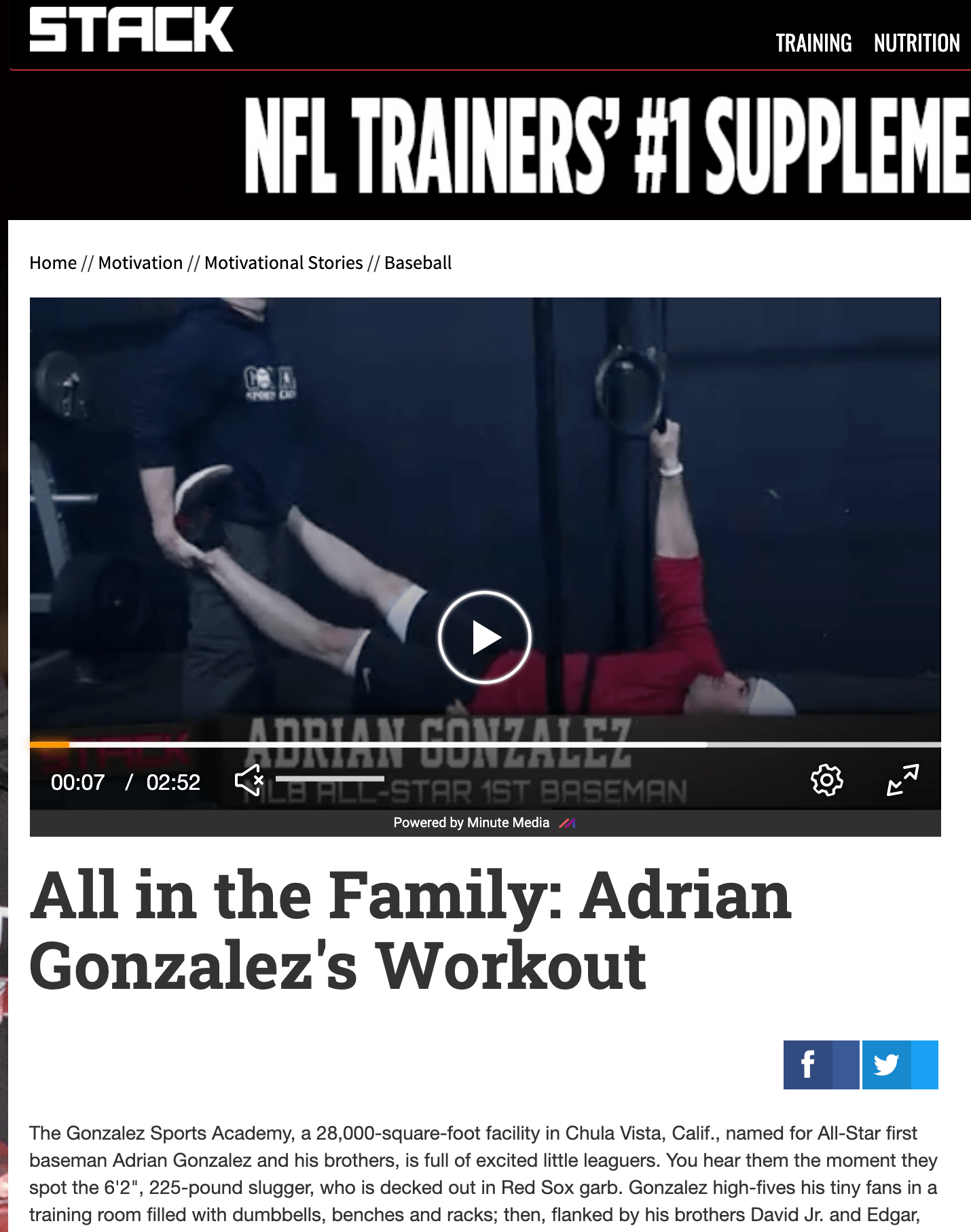 All in the Family | Adrian Gonzalez's Workout - STACK Media