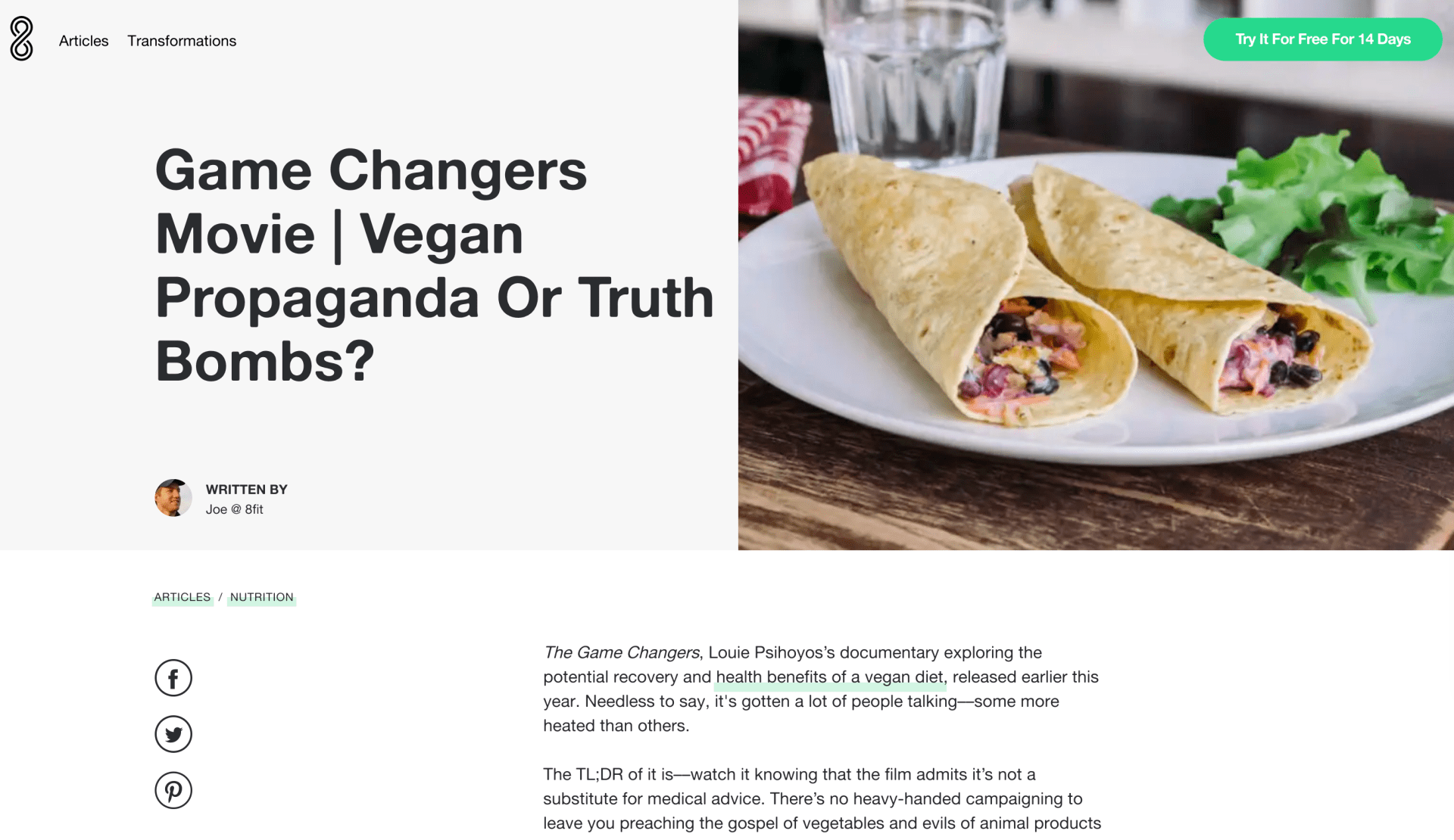 Game Changers Movie | Vegan Propaganda Or Truth Bombs? - 8fit