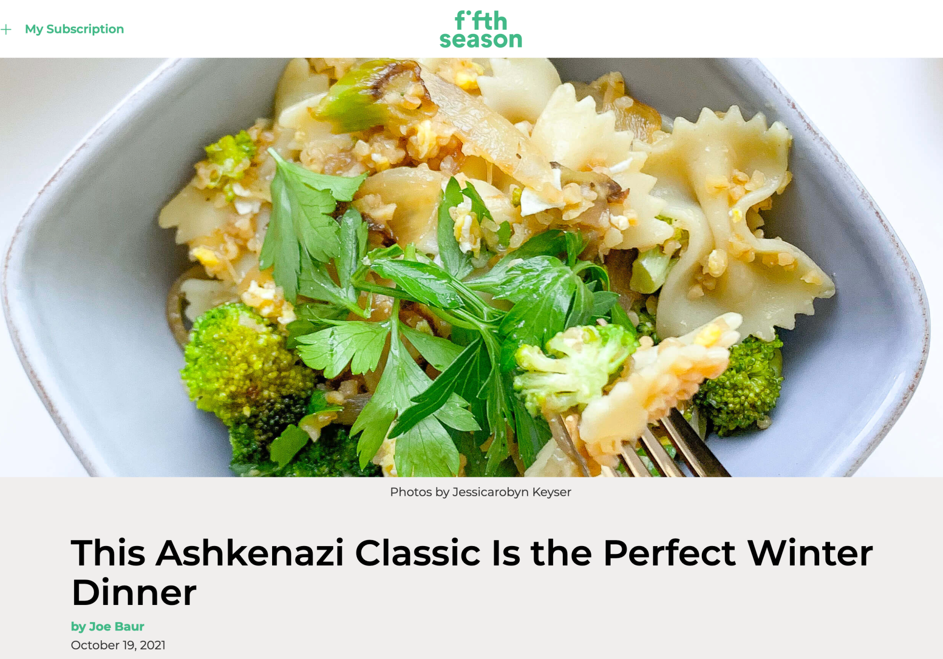 This Ashkenazi Classic Is the Perfect Winter Dinner - Fifth Season