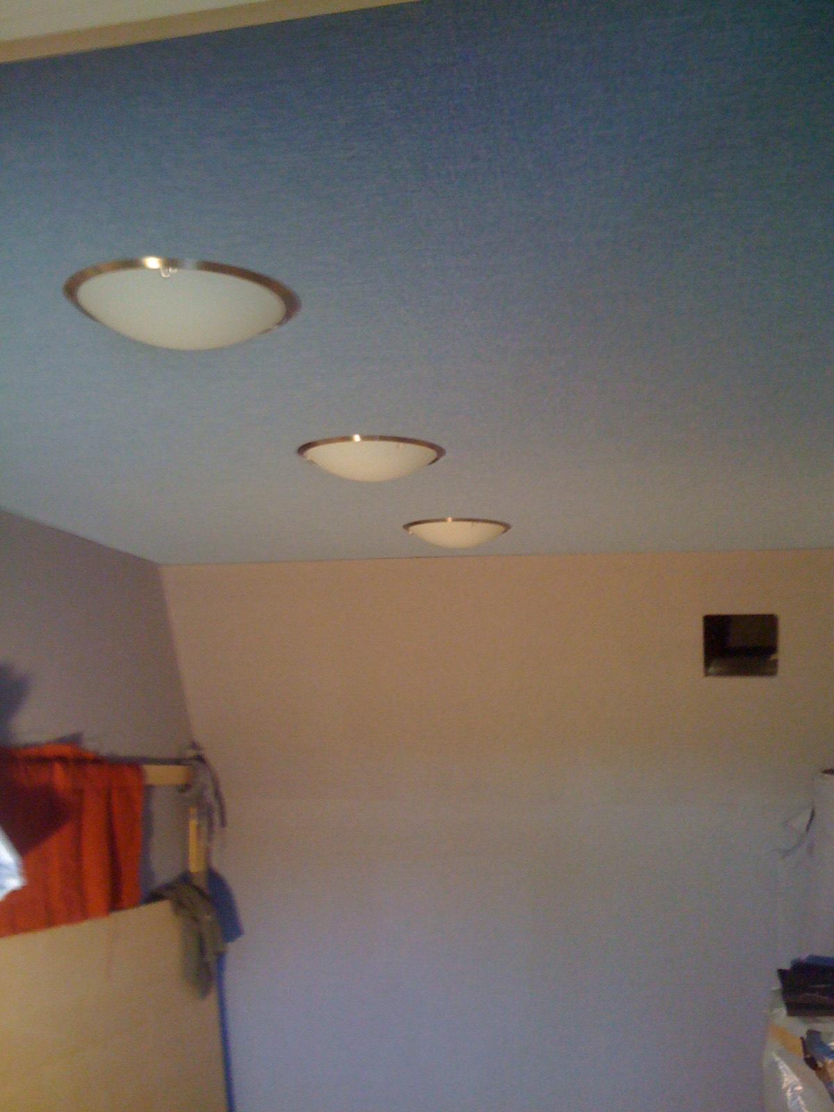Live room light fittings. UFOs overhead.