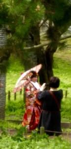 bride on her wedding day in Fukuoka, Japan