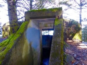 WWII spotting bunker in Abercrombie Fort State Park, near Kodiak, Alaska