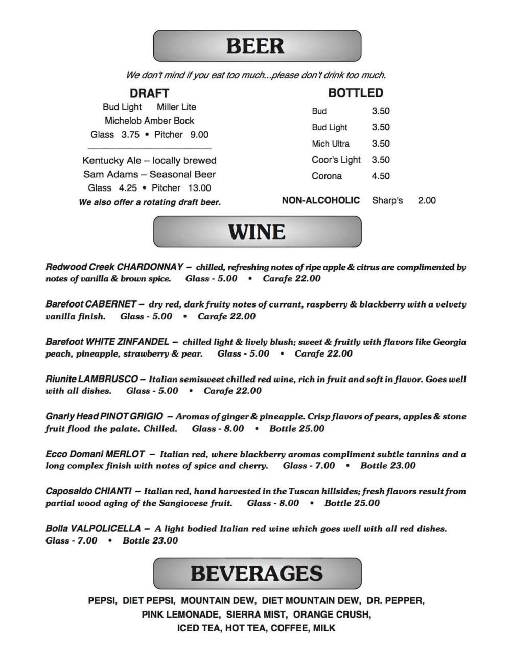 medium resolution of joe b s menu page 2