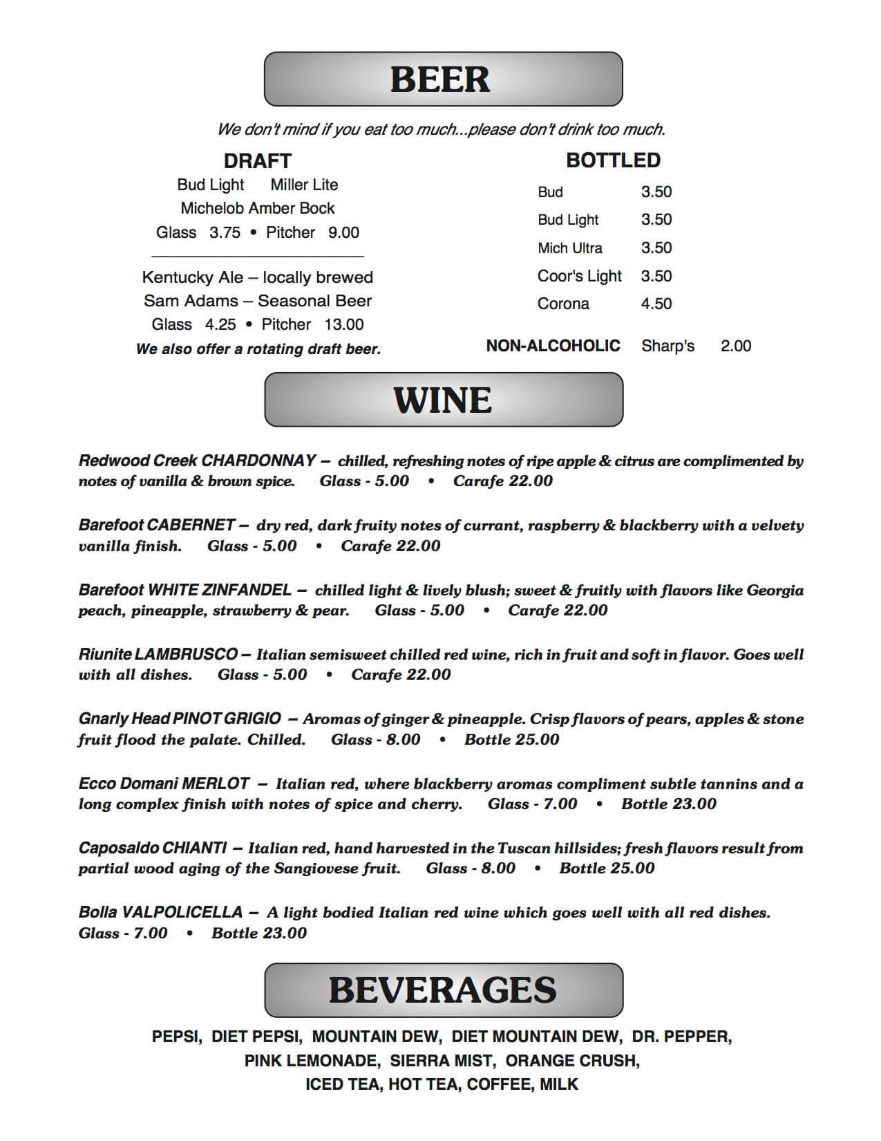 hight resolution of joe b s menu page 2