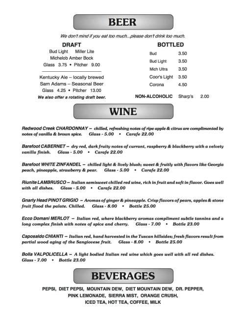 small resolution of joe b s menu page 2