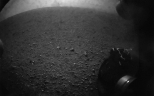 Another soil image with rover wheel