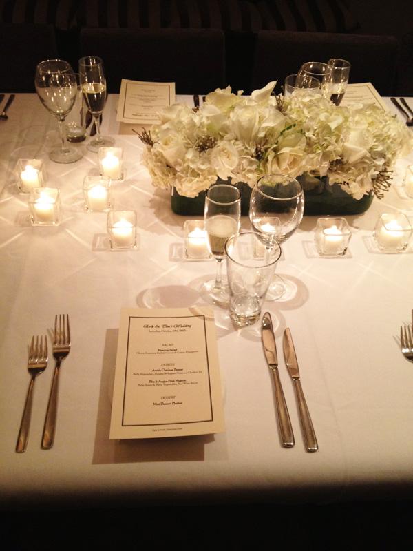 Interior Design New York Joe Cangelosi NYC Wedding Table Design 1