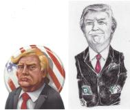 Trump cartoon images President and Businessman - Clark's Scribbles